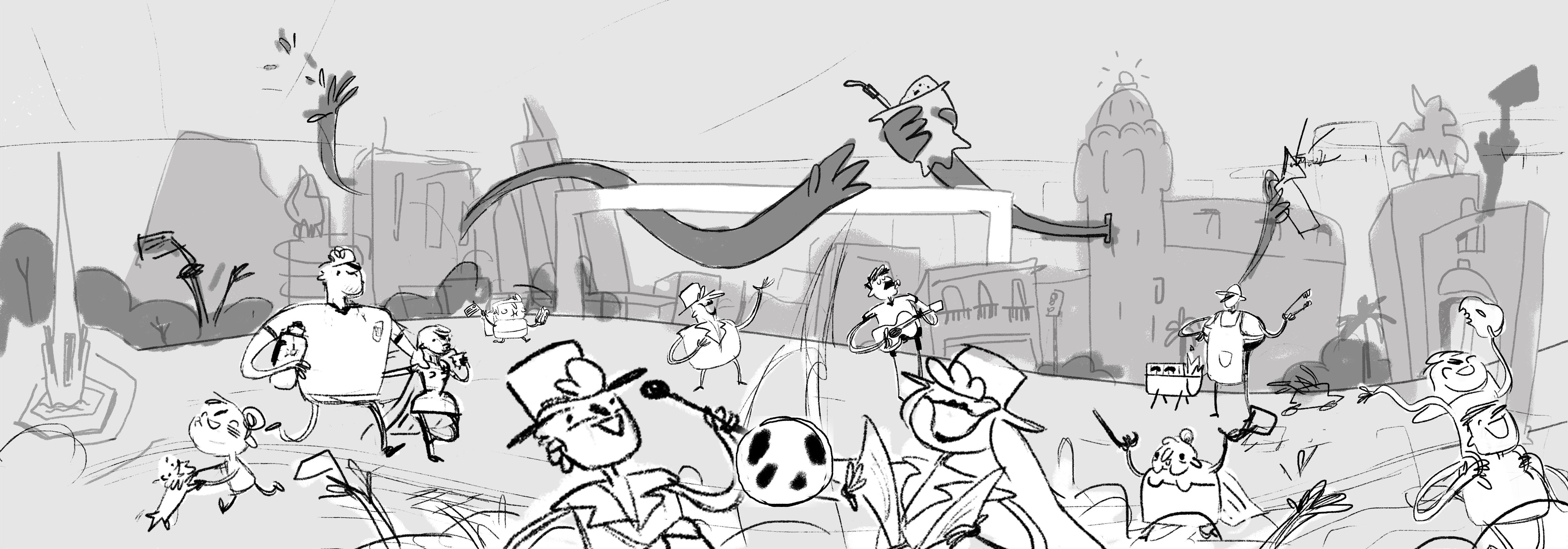 Uruguay World Cup Sketch