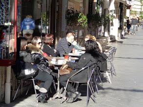Photo: Warm enough to sit outside on Corso Umberto