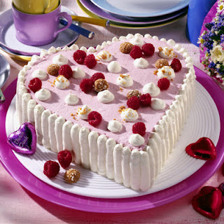 Raspberry and Almond Heart
