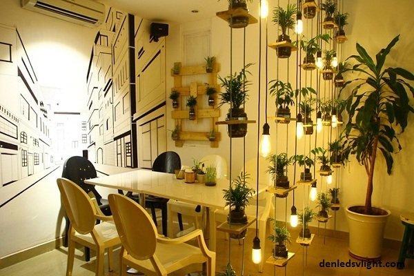 Thiết kế đèn Led bulb Philips độc đáo cho quán cafe