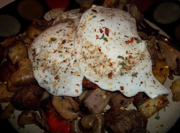 Place the eggs a top. You then have one terrific breakfast. There wasn't a...