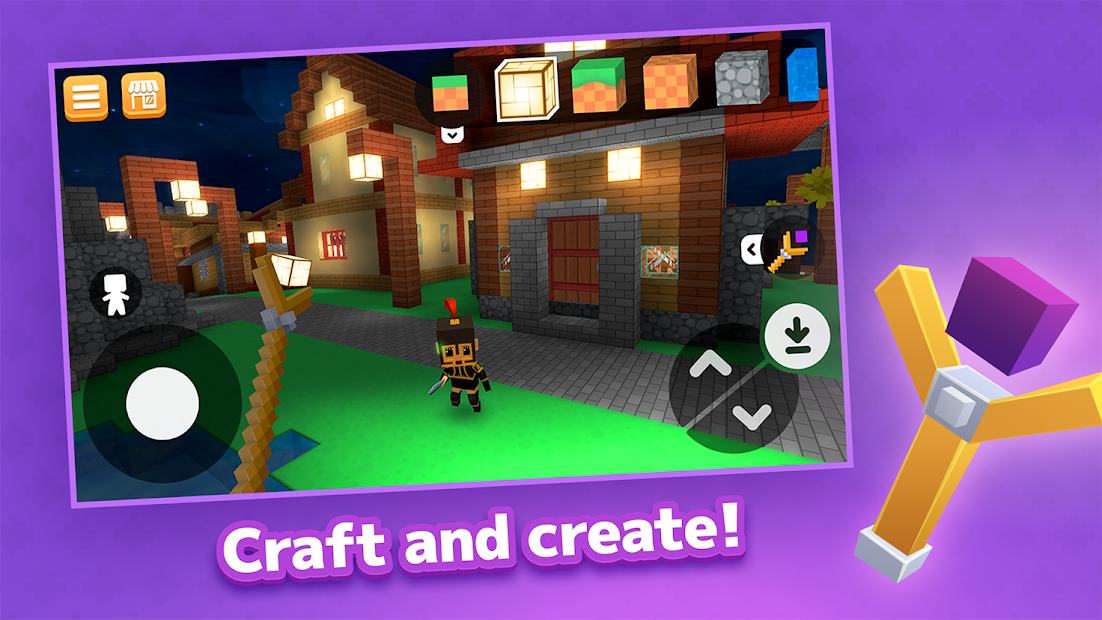 Crafty Lands - Craft, Build and Explore Worlds Android App Screenshot