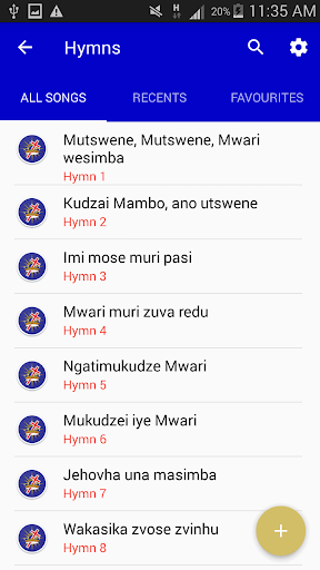 A.F.M in Zimbabwe Hymns  screenshots 3