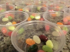 Photo: Jelly Belly cups are ready for the Cooking quest.