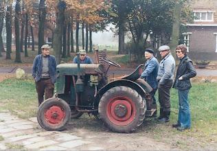 Photo: v.l.n.r. Piet Dekker, Rieks Hollander, Marcus Bruining, Klaas Hadderingh en ... Veenstra