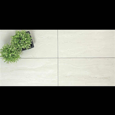 Klinker Travertine Light Blank Rak Kant 30x60