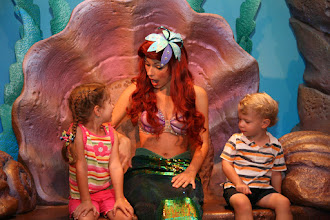Photo: The kids weren't the only ones super excited to get to meet.   Ariel was so disarming, she set the tone for the day. From this point on the kids were great with characters all day, and couldn't wait to meet someone else.