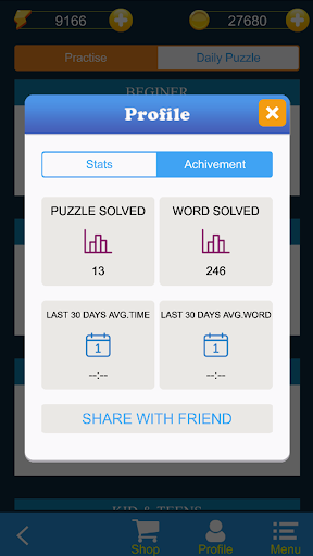 WordyCross : Crossword Puzzles