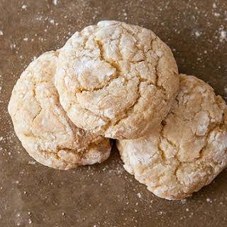 French Vanilla Crinkle Cookies.