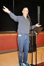 Photo: Michael Heavener welcomes everyone.
