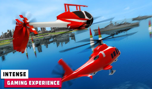 Flying Helicopter Simulator 2019: Heli Racer 3D  screenshots 12