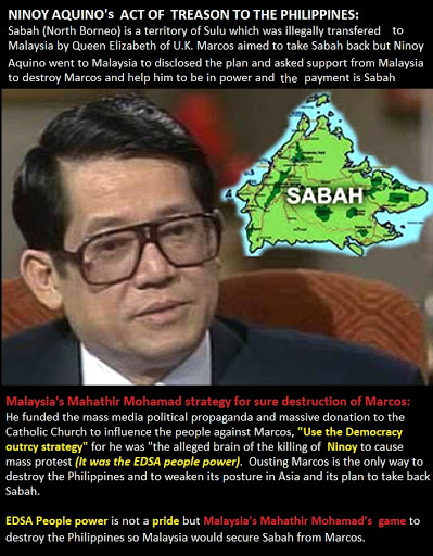 Treason Act of Ninoy Aquino: He Sold Sabah to Malaysia to gain power in the Philippines