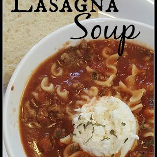 Delicious Lasagna Soup