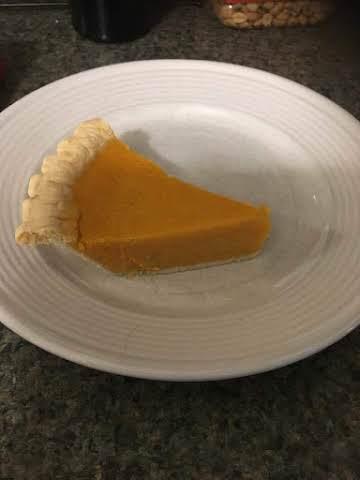 Sweet Potato Pie with hint of orange flavor