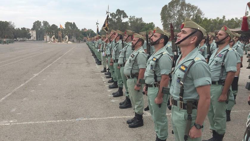 Formación de legionarios el 20 de septiembre