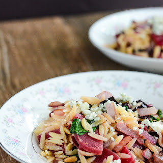 Beet and Blue Cheese Orzo Salad