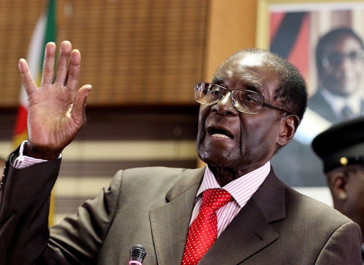 Zimbabwe's President Robert Mugabe gestures during his 93rd birthday celebrations in Harare, Zimbabwe, on February 21, 2017. Picture: REUTERS