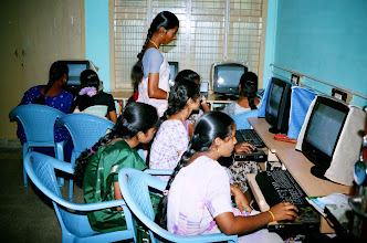 Photo: Women trainees at our computer Lab