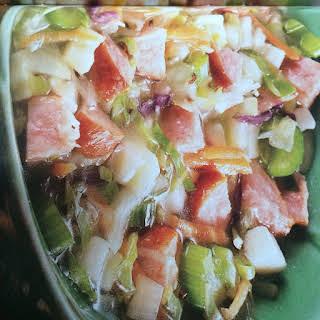 German Sausage/Cabbage Soup.