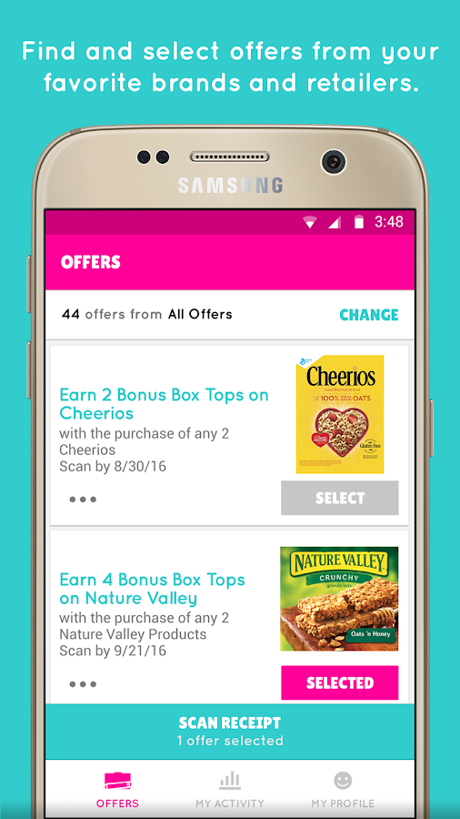 Box Tops® Bonus App- screenshot