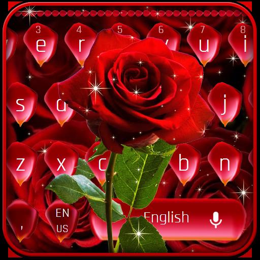 Luxurious Red Rose Petals Keyboard