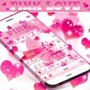 Pink Love Keyboard screenshot 0