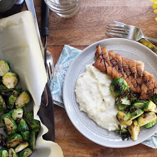 Pan Seared Duck Breast, Quick Mashed Potatoes, and Duck Fat Brussels Recipe