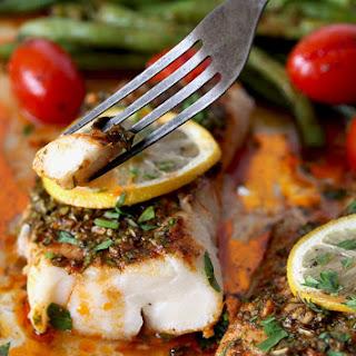 Sheet Pan Cod with Moroccan Chermoula Sauce Recipe