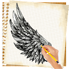How to draw wings icon
