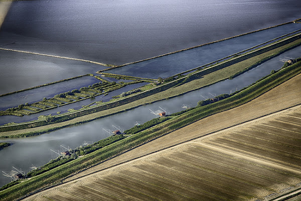 Panoramica sul fiume Reno a Ravenna  di RobertoPieriphotographer