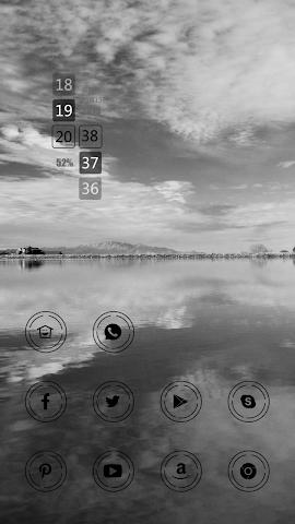 android Dark Black Pure Lake Theme Screenshot 0