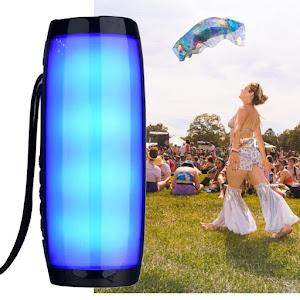 Boxa stereo Bluetooth 157, portabila, lumina ambientala multicolora