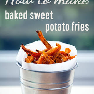 How To Make Baked Sweet Potato Fries (full Recipe And Video Demonstration).