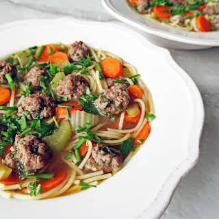 Dutch Vegetable Soup with Meatballs.