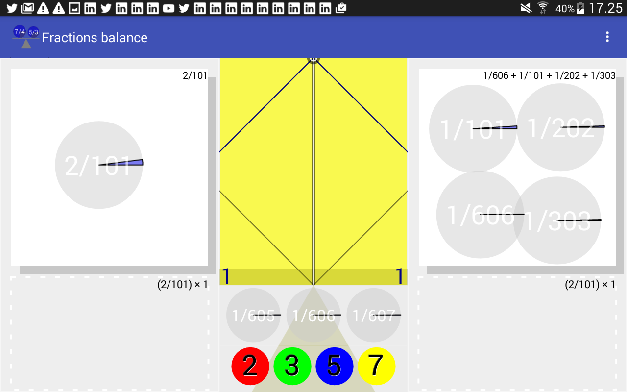 Fractions Balance- screenshot