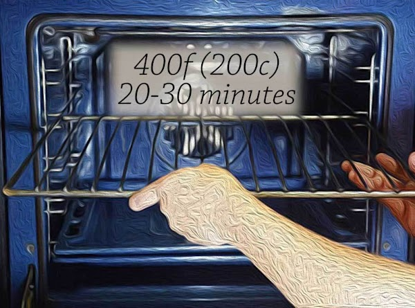 Place on the middle rack of a preheated 400f (200c) oven, and bake until...