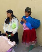 Photo: Waiting on the market steps