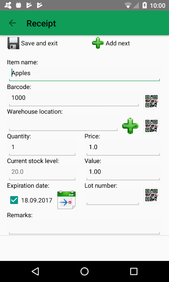 LoMag Warehouse online + MSSQL- screenshot