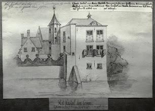 Photo: 1700-1800 Fotoreproduktie van een pentekening, Kasteel Emer.