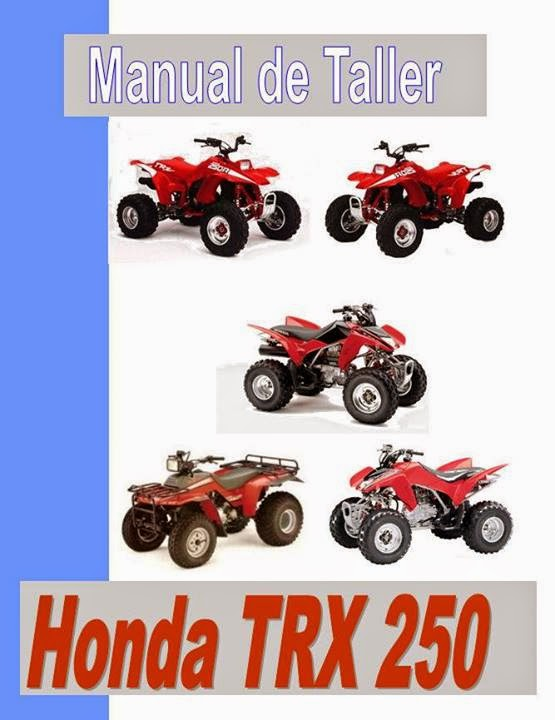 cuatriciclo Honda TRX 250 EX Fourtrax manual taller