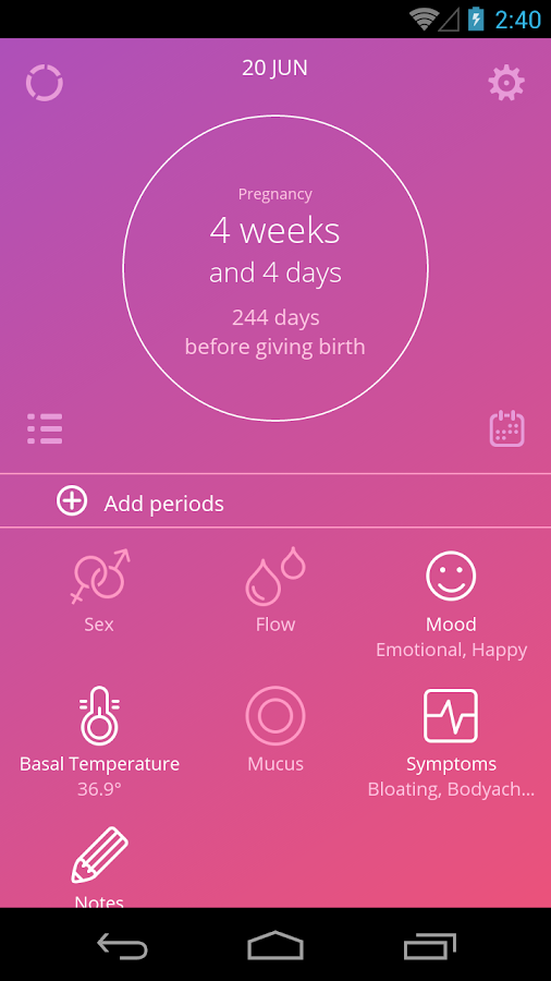 Ovu - Period Tracker Free- screenshot