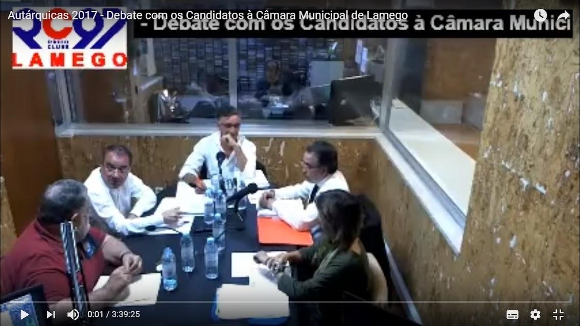 Vídeo - Autárquicas 2017 - Debate com os Candidatos à Câmara Municipal de Lamego