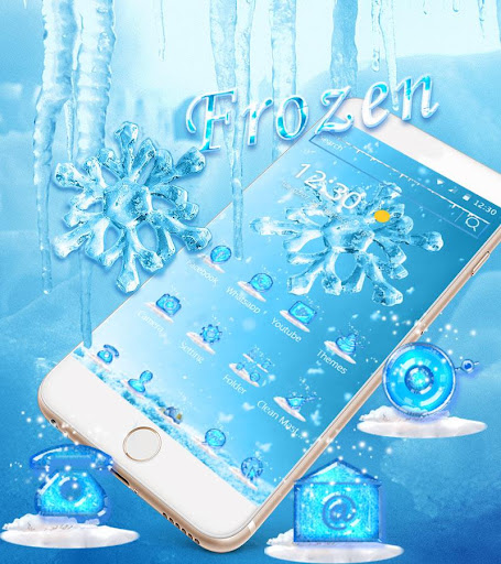 Ice Snow flake Live Wallpaper 2020 Theme screenshots 1