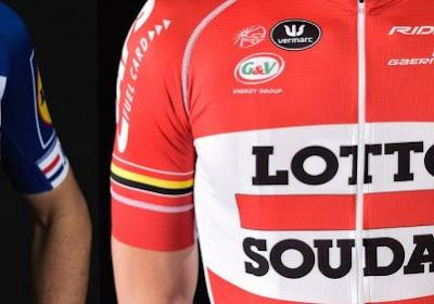 Zoek de tien verschillen: Lotto-renner lacht met Quick-Step om 'gekopieerde shirts'