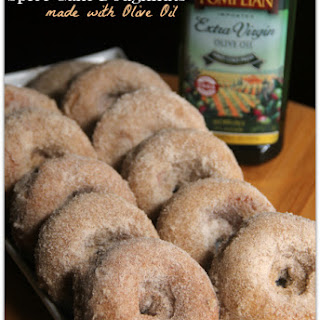 Baked Spice Cake Doughnuts using Olive Oil.