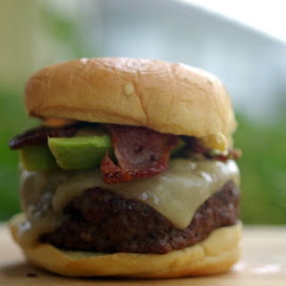 Jamaican Jerk Bacon and Pepper Jack Cheeseburger.