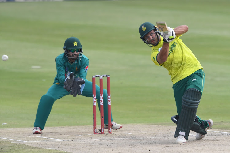 Janneman Malan of the Proteas during the 2nd KFC T20 International match between South Africa and Pakistan at Bidvest Wanderers Stadium on February 03, 2019.