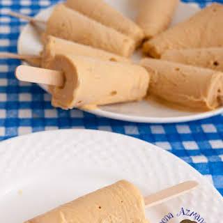 Dulce De Leche Ice Cream Pops.