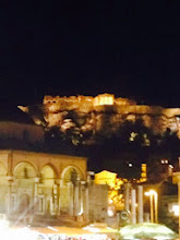 Photo: OK, I thought this was Nafplion, but I am actually at a total loss. Someplace with cool ruins and a fortress on a hill. Could be anywhere in Greece or Turkey.