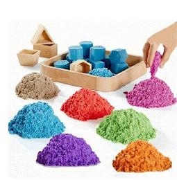 Nisip kinetic pentru copii 1 kg + 6 forme de modelat